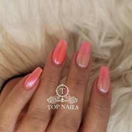 Chrome ombre nails