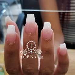 Popular pink and white ombre nails