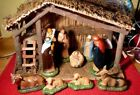 VINTAGE 70s SEARS NATIVITY SET MODEL 97169 STABLE CRECHE FIGURES 13X9 COMPLETE