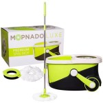 Mopnado Stainless Steel Deluxe Rolling Spin Mop