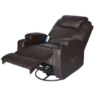 HomCom Massage Heated Recliner with Remote