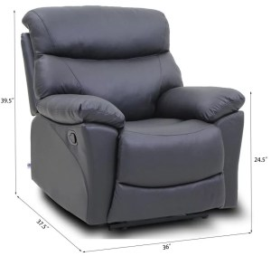 Recliner Chair Top Grain Leather 1 Single Seat