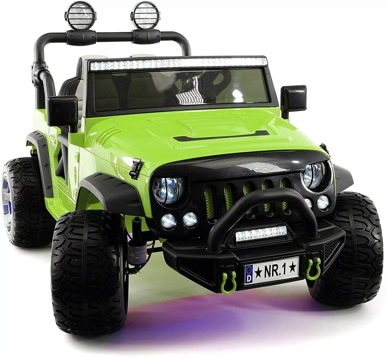 2021 12 Volt Explorer Truck Battery Powered Led Wheels 2 Seater Children Ride On Toy Car for Kids