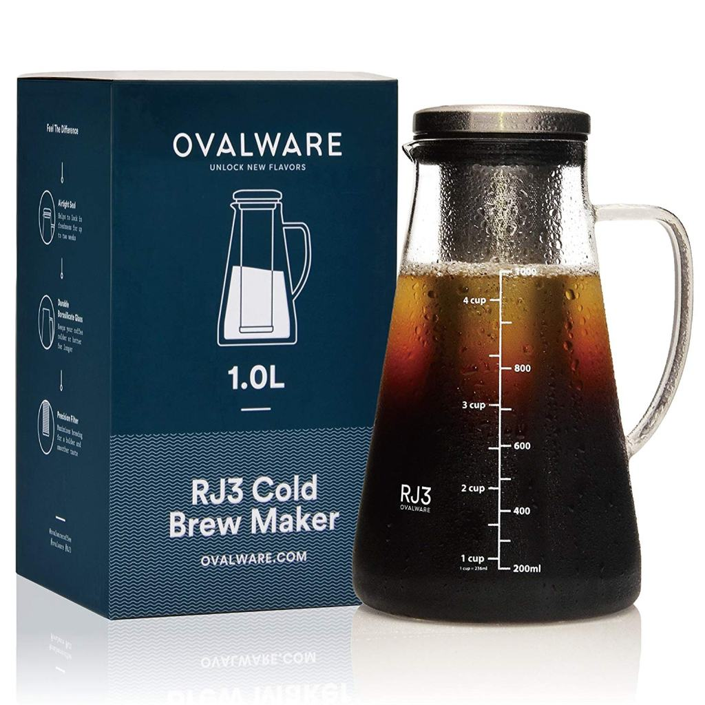 Airtight Cold Brew Iced Coffee Maker and Tea Infuser