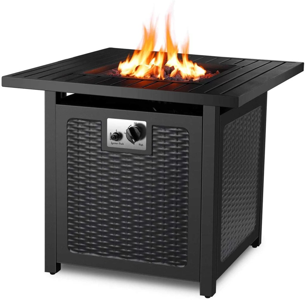 FIXKIT 30 Inch Propane Gas Fire Pit Table