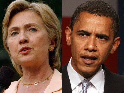Senator Hillary Clinton and Sentor Barack Obama