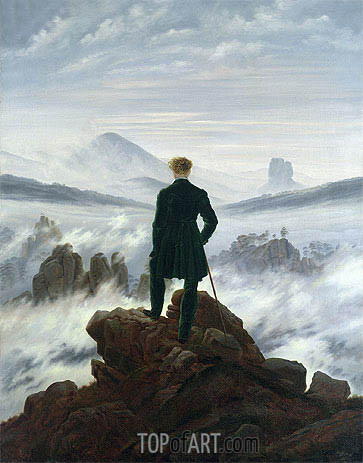 The Wanderer by Caspar David Friedrich