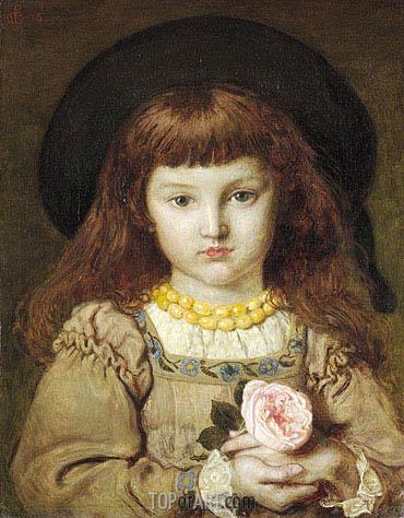 La Rose de l'Infante (Effie Stillman) - Ford Madox Brown - Painting Reproduction