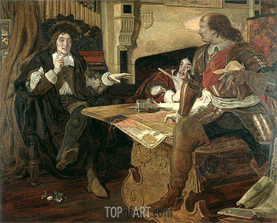 Cromwell, Protector of the Vaudois - Ford Madox Brown - Painting Reproduction