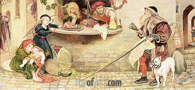 The Proclamation Regarding Weights and Measures - Ford Madox Brown - Painting Reproduction
