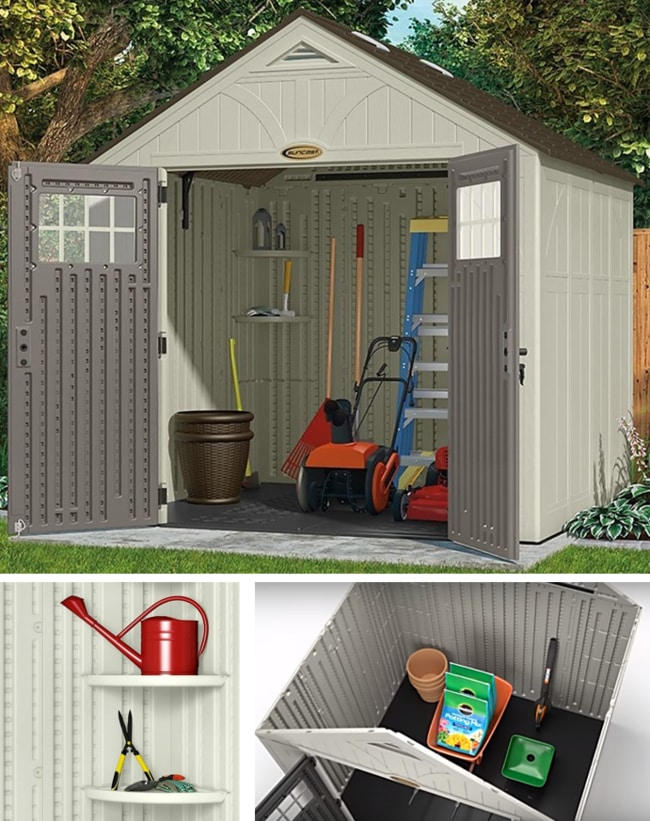 Best Storage Sheds On The Market - Suncast BMS8700 Tremont Resin Outdoor Storage Shed