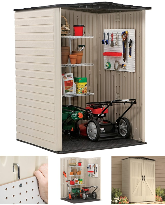 Rubbermaid Roughneck Medium Vertical Storage Shed For Outdoors