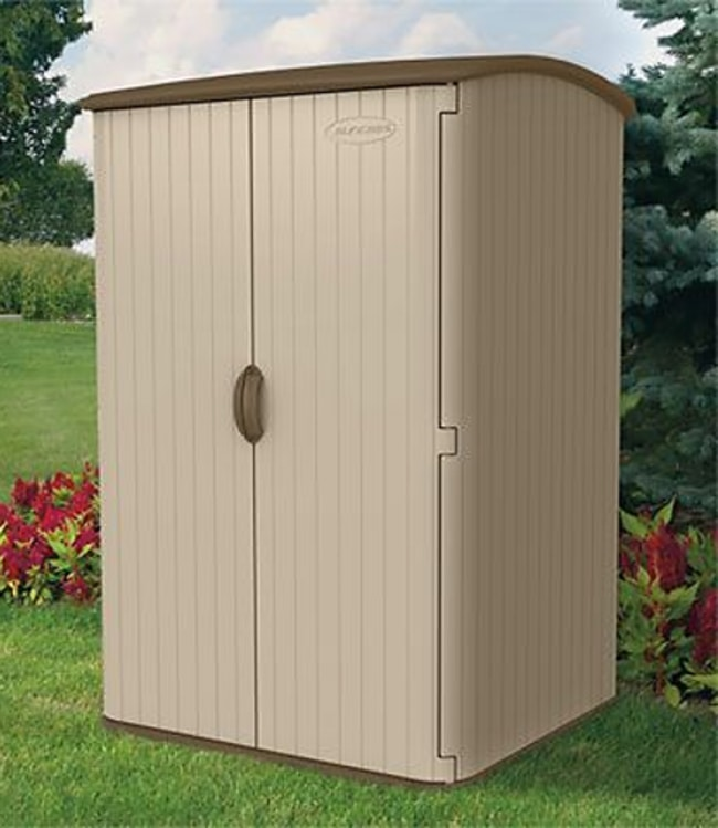 Suncast BMS6500 Blow-Molded Large Vertical Outdoor Storage Shed