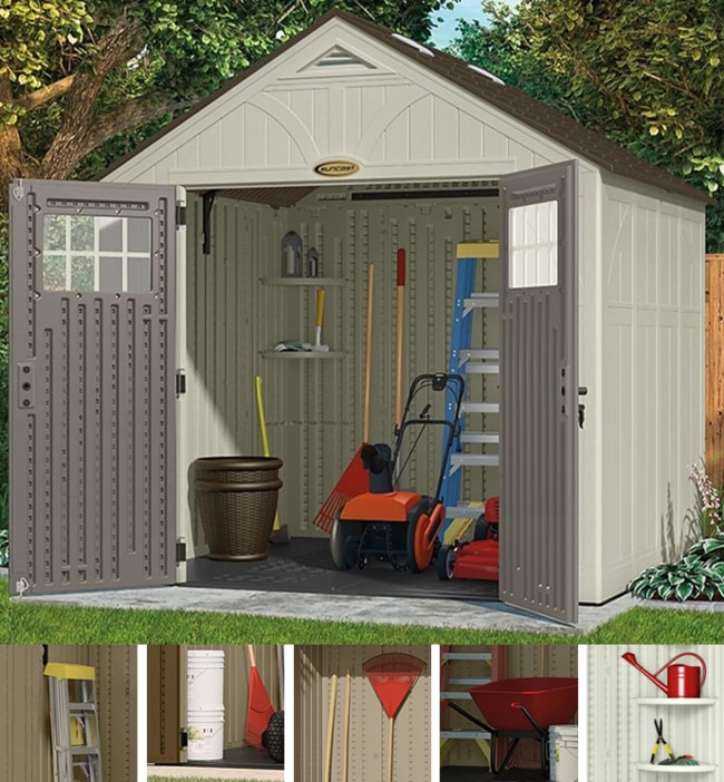 Suncast BMS8700 Tremont 8 x 7ft Outdoor Storage Shed