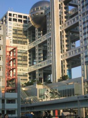 The Fuji TV building in Odaiba