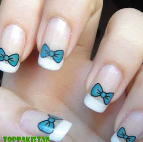 French Manicure Nail Art In Usa