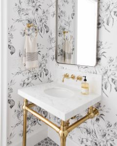 25 Wallpapered Bathrooms That Will Make