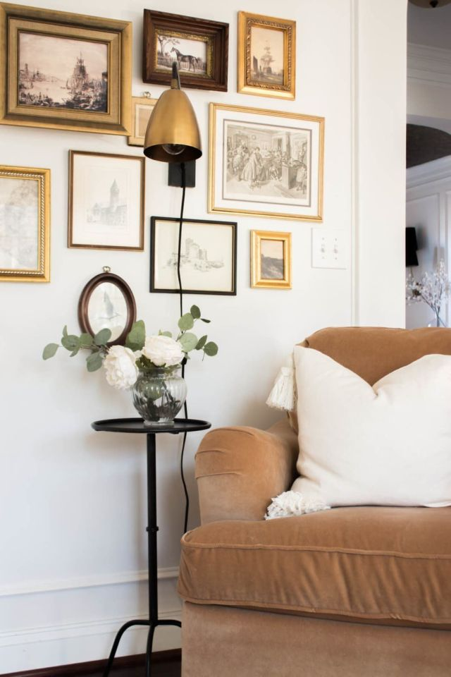 An Eclectic Virginia House Is Serving Up Chunky Crown Molding and Ceiling Wallpaper Inspiration