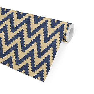 TWINE NAVY AND GOLD Wallpaper By Becky