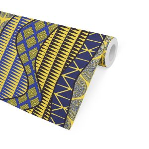 WRAP BLUE & YELLOW Peel and Stick