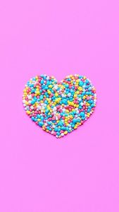 Candy Heart Wallpaper for iPhone and And