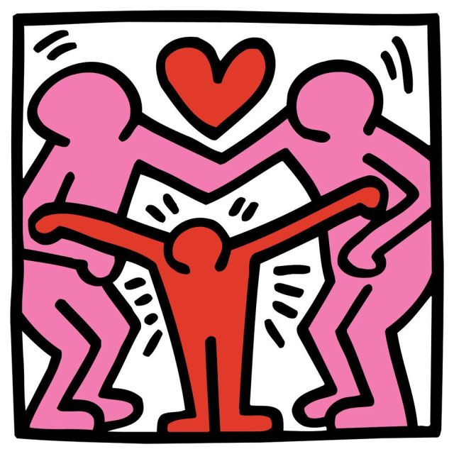 Untitled (family) by Keith Haring - art print from King & McGaw