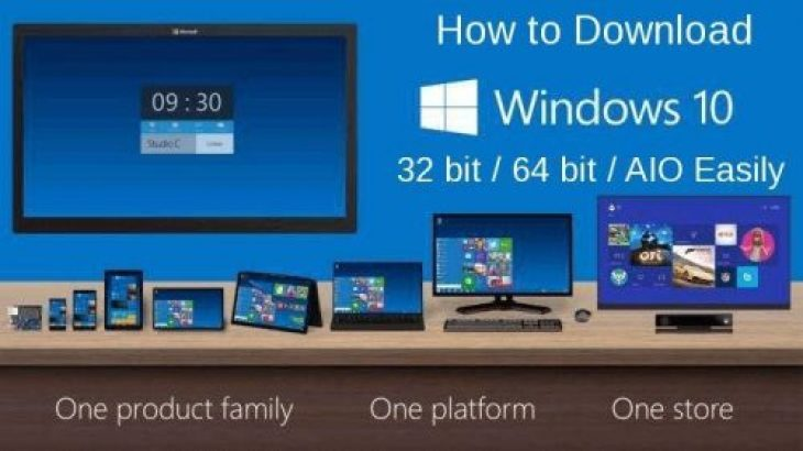 How to Download Windows 10 ISO 32 bit 64 bit AIO Easily