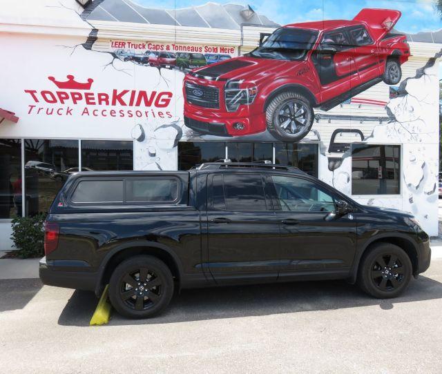 Honda Ridgeline Leer Xr Fiberglass Topper And A Custom Hitch By Topperking In Brandon Fl