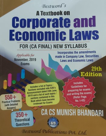 Bestword's A Textbook on Corporate And Economic Laws 29th Edition July 2019