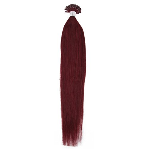 18 Inches 50s Pre Bonded U Nail Tip Remy Human Hair Extensions Light Brown
