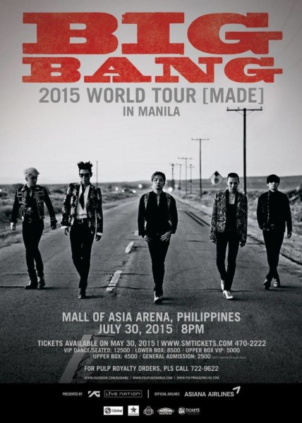 Big Bang Made Tour Manila poster