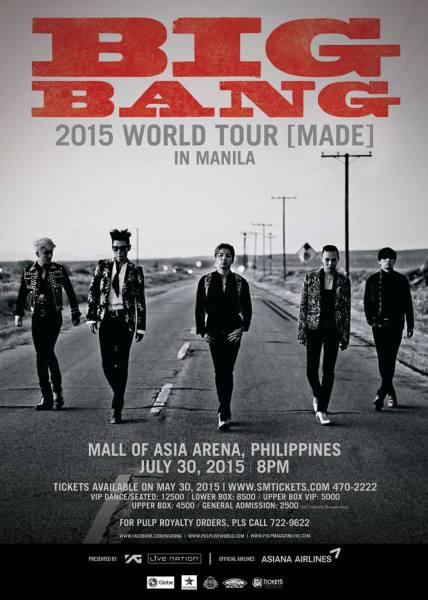 Big Bang Made Tour Manila poster