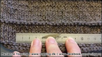 Økonomistrik - strikkeprøve