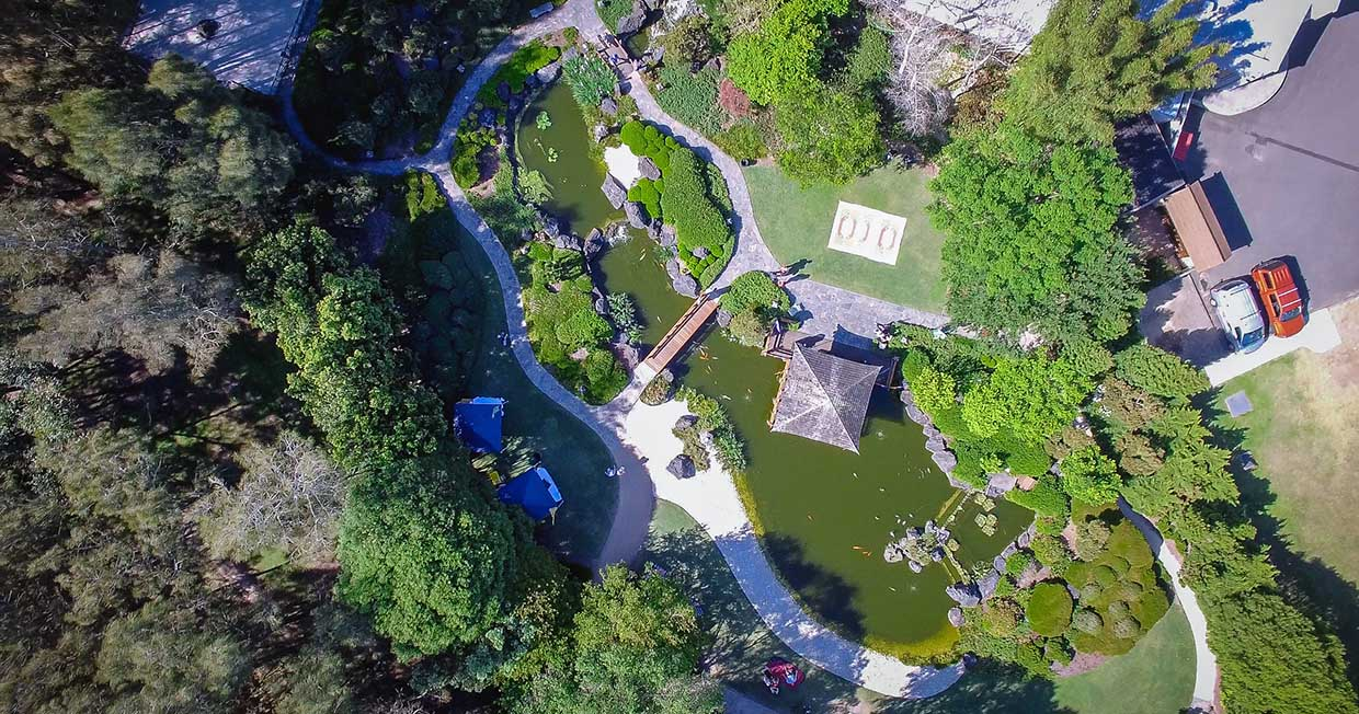 Arial View of Japanese Gardens