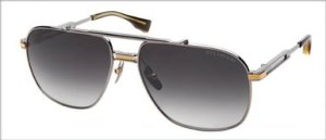Dita Victoire Sunglasses Black Palladium and 18K Gold with Grey to Clear Anti Reflective Lens DRX-2049-A