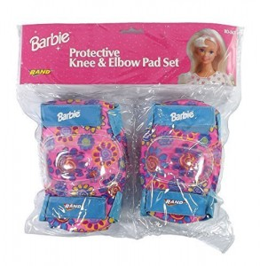 Barbie Pink Knee and Elbow Pads Protective Gear for Girls