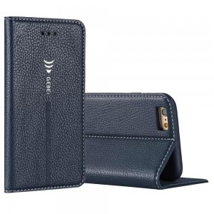 Bestpriceam New Luxury Magnetic Flip Cover Stand Wallet Leather Case for Iphone 6s 6 Plus (Dark Blue)