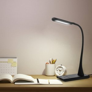 TaoTronics® Elune Dimmable Eye-Care LED Desk Lamp (9W, Flexible Neck, 7-Level Dimmer, Touch-Sensitive Controller, No Flickering, No Ghosting, Matte B