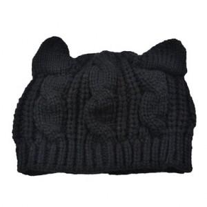 Tobey® Unisex Cute Devil horns Cat Ear Crochet Braided Knit Ski Wool Hat Cap