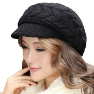 AWEIDS Fashion Korea Style Rabbit Fur Ball Vintage Hat Peak Cap
