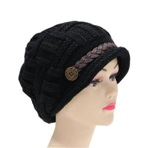 Senchanting(TM) Women Lady Beanie Winter Warm Knit Wool Beanie Hat Crochet Cap