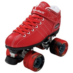 Riedell Diablo Red Boys Speed Rollers Skates