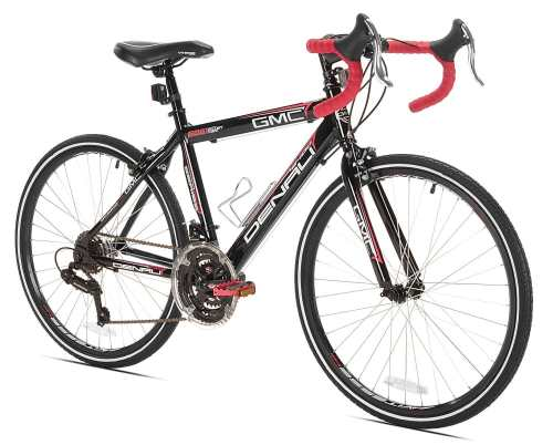 GMC Denali Road Bike, BlackRed, 24-Inch