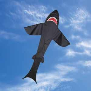 Premier Kites Black Nylon Shark Kite - 7 Foot