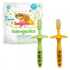 9. Gummy Stick Massagers and Babyganics Say Ah Teething Gel