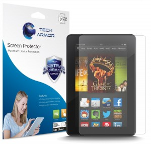 2. Tech Armor Kindle Fire HDX Screen Protector