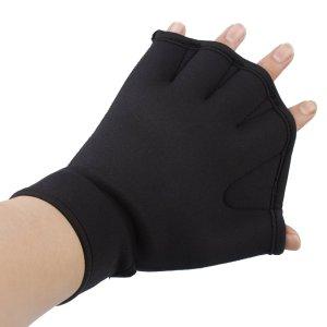 Innogear Water Resistance Training Fingerless Webbed Swim Gloves (Medium)