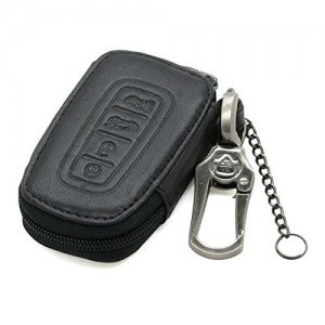 A Smart Key of Chain Leather with Zipper bag Holder