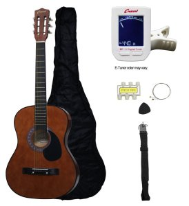 Crescent MG38-CF Acoustic Guitar Package