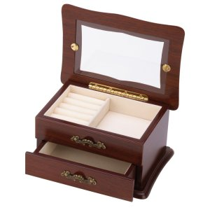 Keepsake Window Jewelry Box Container
